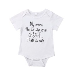 Комбинезон с коротким рукавом онлайн-Focusnorm Casual Baby Boy Boy 0-18M Strampler Short Sleeve Print Letter Soft Overall Outfits Sommer
