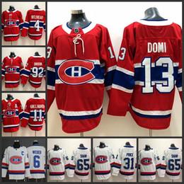 13 Max Domi 31 Carey Preis 6 Shea Weber 65 Schal Tomas Plekanec Alex Galchenyuk Drouin Montreal Canadiens Eishockeytrikot von Fabrikanten