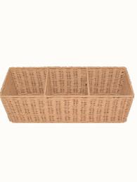 Имитация ротанга прямоугольник корзина с фруктами ручной работы хлеб супермаркет закуски дисплей корзина для хранения фруктов от