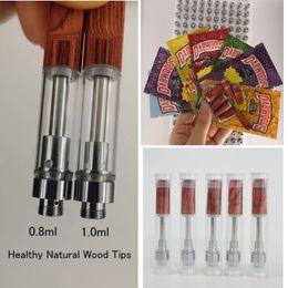 kayfun mini v3 Rabatt Dabwoods Patrone Wood Tip 0,8 ml 1 ml Keramik Vape Stifte PVC Vape Cartridges Verpackungen Leere Vaporizer Pen 510 Gewinde