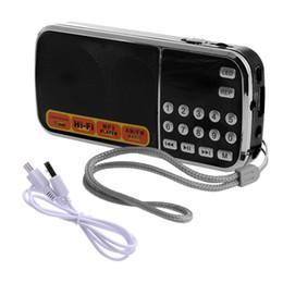 Alto-falante digital micro on-line-Mini LCD Receptor Digital FM AM Rádio Speaker USB Micro SD Cartão TF Mp3 Player