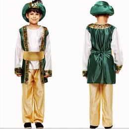 costumi egiziani Sconti Costume da travestimento da bambino in età infantile Costume da re adulto in costume da bambino per adulti egiziano Vestito a quattro pezzi Green Boy Prince Costume teatrale 57