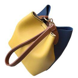 Bolso bandolera Bolsas de mensajero de las mujeres que datan de moda de cuero ancho bolso del remiendo del hombro Crossbody Bucket Bag # YL5 desde fabricantes