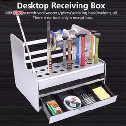 Ящики для компьютеров онлайн-Мобильный телефон компьютер ремонт инструмента ящик для хранения отвертка полка для хранения ремонт рабочего стола прием отделочной коробки