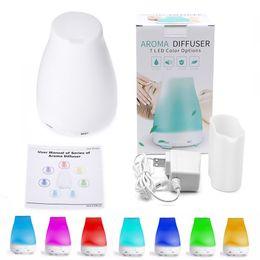 100 ml difusor de óleo essencial Umidificador Aroma Umidificador 7 Cores LED Night Light Difusor Ultra Fresco Aromaterapia Névoa Cool Air de