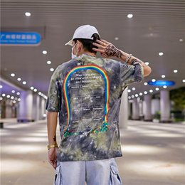 T shirt homme hong kong en Ligne-Graffiti Lettre Streetwear T-shirts 2019 De Style Hong Kong Hommes Hip Hop Casual Tee-Shirts À Manches Courtes Masculin Harajuku De La Mode T-shirt
