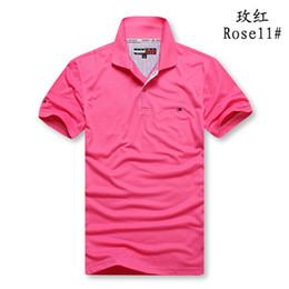 camisa polo slim fit Sconti Polo da uomo a manica corta Polo a maniche corte in cotone Homme Slim Fit Camisa Polo Uomo Tops Taglie