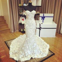 платья с изображением Скидка 2019 новые реальные изображения 3D аппликация свадебные платья Русалка Милая декольте из бисера труба свадебные платья Sweep Поезд кружева свадебное платье