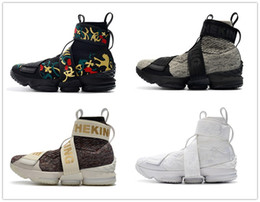 zíper com zíper Desconto KITH x 15 XV Desempenho Estilo de vida zíper correias de calçados esportivos 15s Long Live the King Men Running Shoes tênis de designer bordados