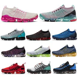 nike air vapormax 2019 2 3 run utility hombres mujeres zapatillas de correr triple blanco negro CNY volt Tropical Twist CELESTIAL TEAL mujeres hombres