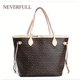 Canada Prix de gros vente en cuir PU femmes marque de mode NEVERFULL MM / GM épaule sac à provisions en plein air sac avec portefeuille Offre
