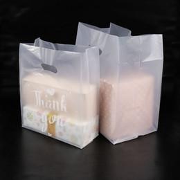 Maniglie per borse per la spesa online-Grazie Sacchetto regalo di plastica Sacchetto di immagazzinaggio di stoffa con maniglia Sacchetti di plastica per torta di caramelle di nozze di partito