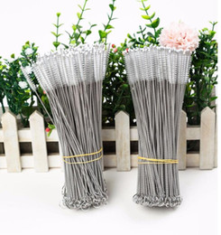 reusable bottles Promo Codes - Straw Cleaning Brushes Stainless Steel Drinking Straws Cleaning Brush Pipe Tube Baby Bottle Cup Reusable Cleaning Tool 17cm KKA6850