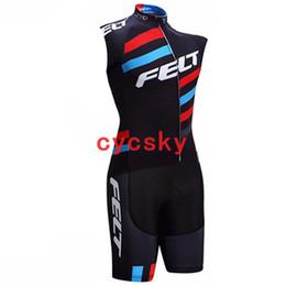 Feltro Bicicletta Jersey Estate Outdoor senza maniche Maglia da ciclismo Skinsuit Set Traspirante Quick Dry BIke Wear Ciclismo Men Bicycle Clothes da