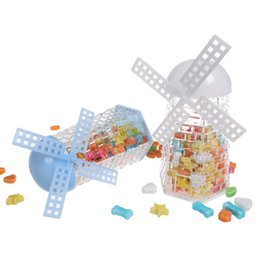 mulini a vento Sconti 6Pcs bambini Infant Windmill design regalo della caramella Contenitore Bottiglia Vaso Decor Baby Shower Wedding Decor regalo piccolo oggetto Storage Box
