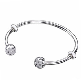 Original 925 Sterling Silver Moments Open Pan Bangle Pavé Embouts Scintillants Embouts Bracelet Fit Perle Charme Diy Beaux Bijoux ? partir de fabricateur
