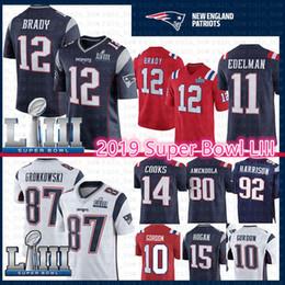harrison jersey Rebajas 2019 New Patriots Jersey 12 Tom Brady 87 Rob Gronkowski Super Bowl LIII 10 Josh Gordon 11 Julian Edelman 14 Cocineros 15 Hogan James Harrison 00