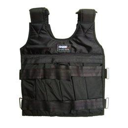 Оборудование черного ящика онлайн-SUTENG 10-килограммовый отягощенный жилет для тренировок по боксу Регулируемая тренировка Черная куртка Сват Санда Спарринг Защитить