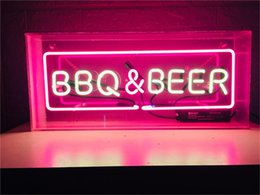 neon beer signs Coupons - New Star Neon Sign Factory 14X8 Inches Real Glass Neon Sign Light for Beer Bar Pub Garage Room BBQ&BEER.
