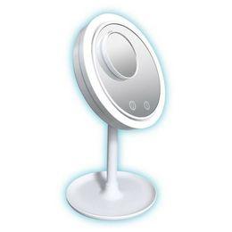 2019 isolierfolienpapier 5-fache Vergrößerung des LED-Lampen-Kosmetikspiegels 3 in 1 Kosmetikspiegel mit LED-Beleuchtung für kühle Haut MMA2194