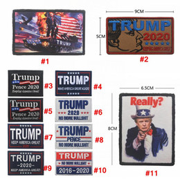 badge cap Sconti Ricamo Trump 2020 cap Patch magic sticker Bracciale Make America Great Again Badge Gancio loop Brassard Combat Bomboniera AAA2062