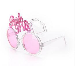 Schwarze ring rosa diamanten online-15 x 10cm Bride To Be Brillen Pink Diamond Ring Shower Produkte Bride Sonnenbrillen Eye Dekoration Bachelorette Hen Party Supplies