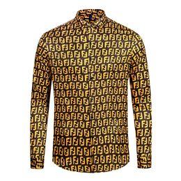 Mejores camisas de marca para hombres online-Mejor venta de los últimos hombres de la marca de moda de lujo camisa de lujo de diseño de la marca de la marca de la camisa de manga larga casual de belleza dusa de los hombres M-2XL