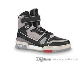 Son Vintage Erkekler boots Deri Eğitmen Sneakers, Erkekler Basketbol Sneakers ile Buzağı Deri İlkbahar-Yaz 2019 Erkek Ayakkabı Flats Outdoo nereden