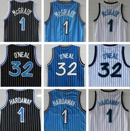 Tracy mcgrady jersey online-Alta qualità Shaquille 32 O'Neal Jersey Penny 1 Hardaway Maglie Tracy 1 McGrady Maglie cucite College Shirts Mens Vince 15 Carter Shirts
