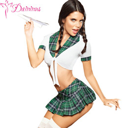 sexy clothing porn Promo Codes - Schoolgirl Sexy Costumes Student Uniform Cosplay Costume Set Hot Porn Sexy Underwear Sex Products School Girl Game Clothes