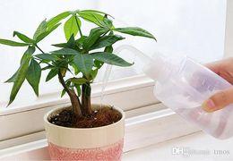 Bottiglia d'irrigazione online-250/500 ML Mini Plastica Fiore Pianta Annaffiatoio Spruzzatore Curvo bocca acquolina in lattina Giardinaggio fai da te Trasparente per piante succulente