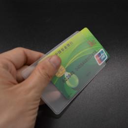 Canada Cas en plastique de titulaire de la carte en plastique de silicone transparent de couverture de carte de PVC pour protéger des cartes de crédit Porte Carte Bank Id Card Sleeve Offre