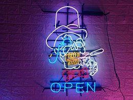 neon beer signs Promo Codes - New Star Neon Sign Factory 24X20 Inches Real Glass Neon Sign Light for Beer Bar Pub Garage Room Open TN465.