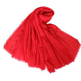 Bufanda de perlas musulmanes online-estolas, algodón, lino, bufandas, musulmán, hijab, cabeza, cubierta, bandana, mujer, llano, árabe, mujer, cabeza, capa, chales, 135g, hijabs, chales