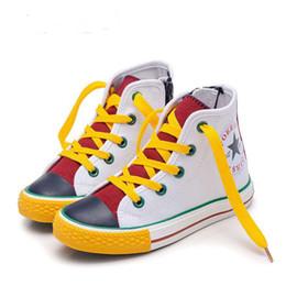 Caoutchouc pour l'école en Ligne-Garçon fille toile chaussures bonbons couleur chaussures de mode chaussures de baseball coréenne toile vamp + semelle en caoutchouc enfant garçon fille école chaussures de sport