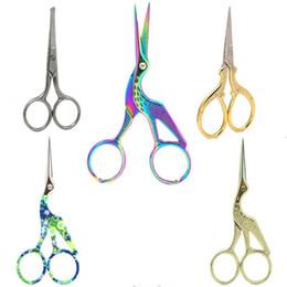 Scissor vintage online-Crane Scissors Cutter Ricamo In Acciaio Inox Stile Vintage Ricamato Naso Capelli Forbici Utensili A Mano 115mm 6 44xh E1