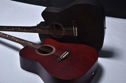 geschnitzte gitarren Rabatt spezielle 41-Zoll-Retro-Farbe voll Buchenholz Akustikgitarre geschnitzt Ecke Holz Gitarre direkt ab Werk Musikinstrument Großhandel