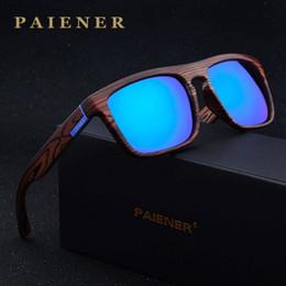 Nachahmungs-sonnenbrillen online-Retro Imitation Bambus Holz Polarisierte Sonnenbrille Frauen Männer Markendesigner Sonnenbrille Sportbrille Sonnenbrille oculos de sol