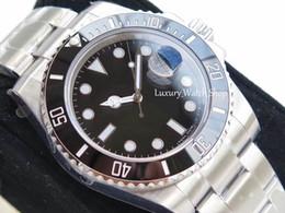 Taucheruhr saphir online-N Fabrik V7 Luxusuhr 116610LN Eta 2836 Saphir Spiegel mechanische automatische Uhr Keramik Lünette Dial Luminous Tauchen 100M 904L