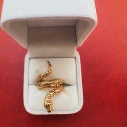 Cobra modelo 18 k banhado a ouro anel punk para homens 12g banhado a prata designer de luxo hip hop jóias tamanho 7 a 12 iced out cobra anéis com caixa de Fornecedores de homens modelos de anéis de ouro