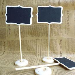 2019 tafelhalter 30 stücke Mini Holz Tafel Tafel Tischkartenhalter Hinweis Nachricht Farbe für Schulveranstaltung Büro Dekoration rabatt tafelhalter