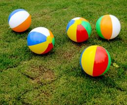 2019 piccoli giocattoli di ems Pallone da spiaggia Pallone da spiaggia gonfiabile a forma di pallone da spiaggia gonfiabile con 6 palloncini da spiaggia per bambini 23cm