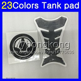Zx6r aufkleber online-3D-Carbon-Faser-Behälter-Auflage für KAWASAKI NINJA ZX6R 07 08 ZX6R ZX 6 R 07-08 ZX 6R ZX6R 2007 2008 07 MY33 Gas-Behälter-Kappen-Schutz-Aufkleber Abziehbilder
