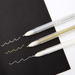bambini rossetto all'ingrosso Sconti evidenziatore colore non è facile a svanire marcatori colore arte riflessi pittura penna bianca forniture d'arte dipinte a mano