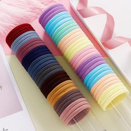 100PCS Women Girls 4.0CM Candy Colors Nylon Elastic Hair Bands Ponytail Holder Rubber Bands Scrunchie Headbands Hair Accessories