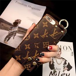 Housses d'iphone pour femmes en Ligne-Housse en cuir Monogram Classic xr pour iPhone XS Max / XR 8/7/6 Plus avec housse de protection pour femme