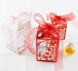 fita de impressão do casamento Desconto Casamento Bithday Partido Limpar Pvc Ribbon Gift Box Impresso Guloseimas Doces de Maçã Macaron Bolo Quadrado Caixas de Presentes de Natal favor Envoltório