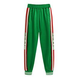 Hip hop verde on-line-Palm Angels Calças Mulheres Homens de Alta Qualidade Basculadores Hip Hop Streetwear Calças Sweatpants Moda Roxo Verde Sweatpants