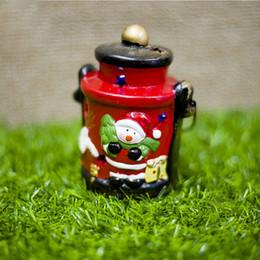 Arboles de ceramica online-Decoración para fiestas Cute Home Christmas Tree Ornament Ceramic Snowman Luminous Santa Claus Lanterns Bar con luz colgante artesanía pintada
