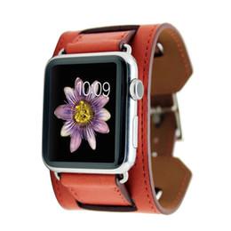 Mode weichen casual style echtes lederarmband für apple watch band für iwatch größen 38mm 42mm replament armband armband strap 9 farben von Fabrikanten